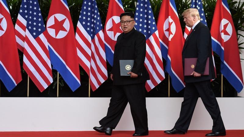 Trump says he's happy as long as Pyongyang stops tests