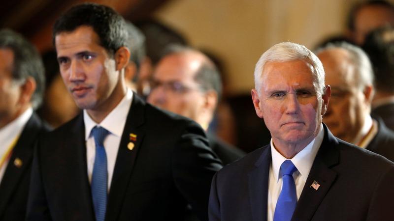 Pence tells Venezuela's Guaido: U.S. with you 100%