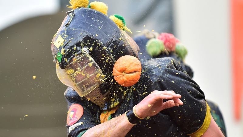 INSIGHT: Italy hosts 'Battle of the Oranges'