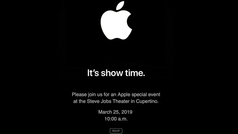 "Apple says ""It's show time"""