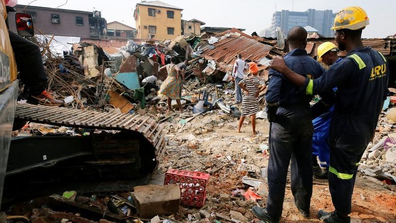 Search for Nigerian children in rubble continues