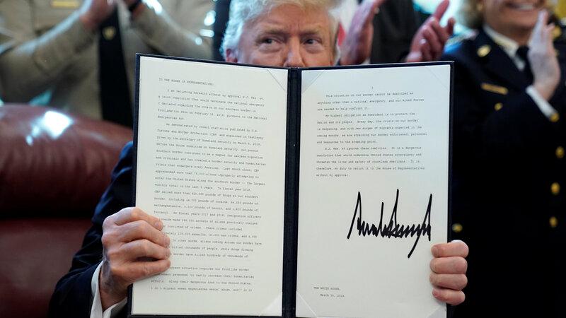 Trump vetoes measure against border emergency