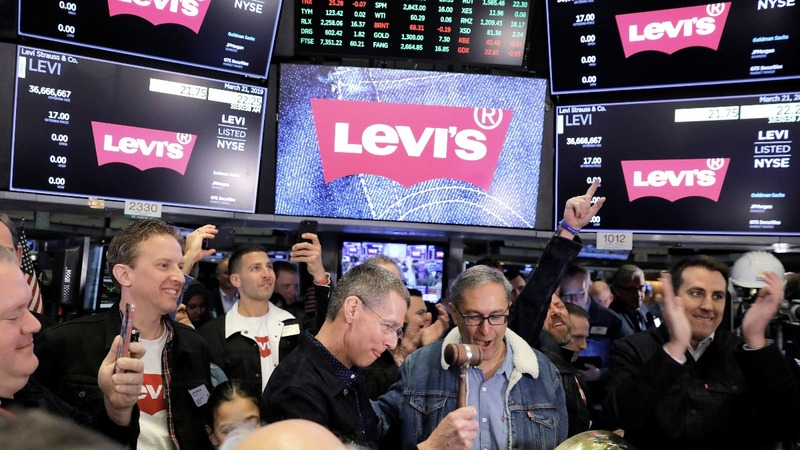 Levi's soars in stock market return