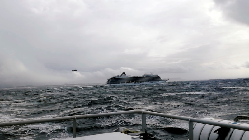 Passengers airlifted from cruise ship off Norway