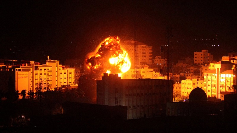 Israel reports Gaza rocket strike on home