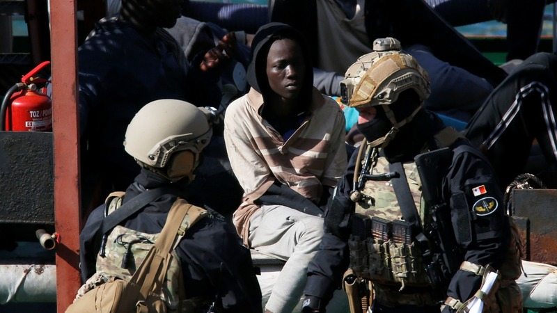 Soldiers seize tanker hijacked by migrants