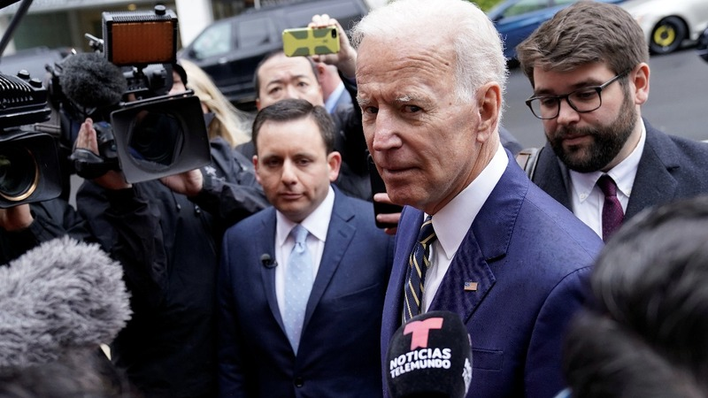 Biden jokes in first speech since allegations