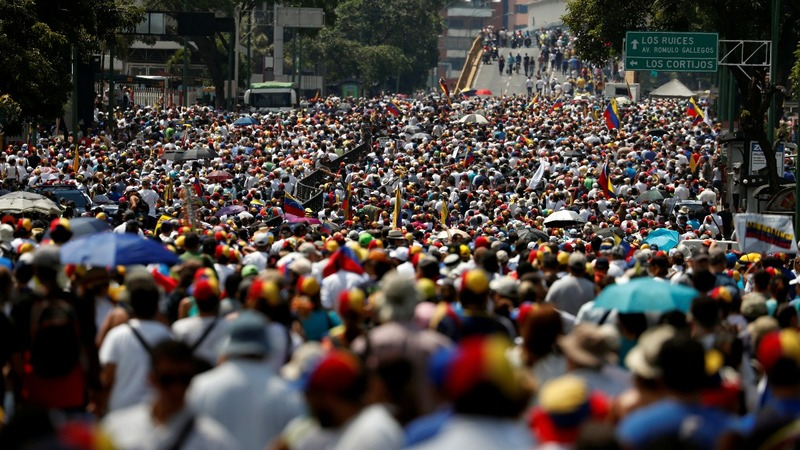 Venezuelans march for power, water and end to Maduro