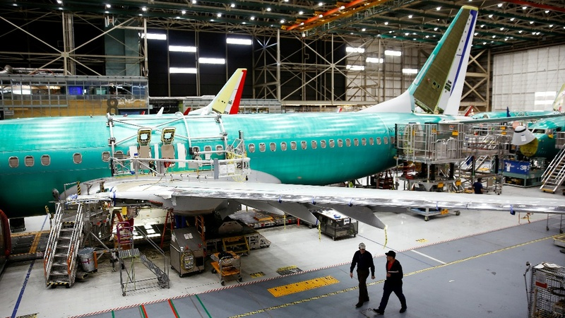Boeing's 737 production cut hits shares