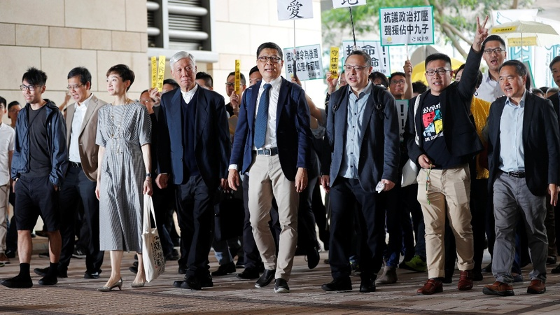 Hong Kong activists 'guilty' over 2014 protests