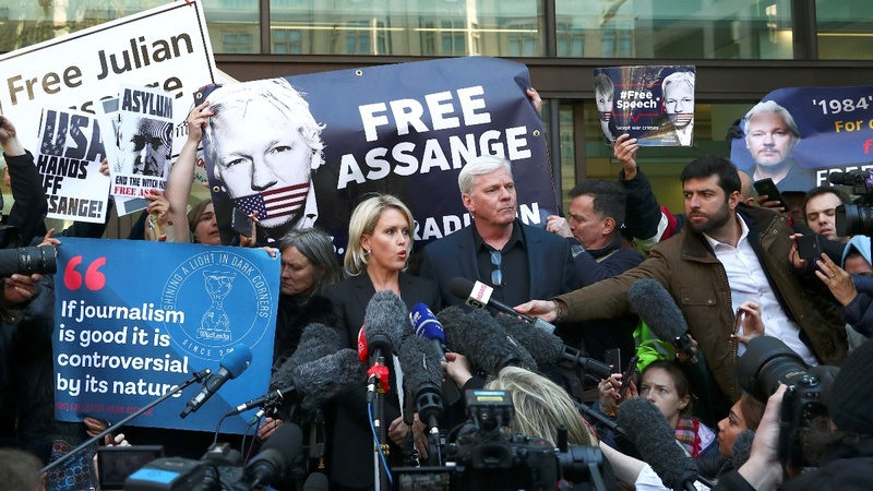 Assange arrest may test press protections