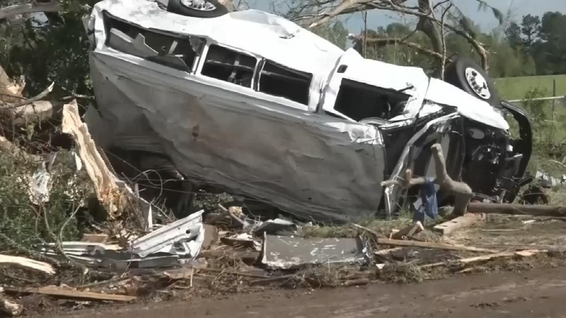 At least eight dead after tornadoes slam South