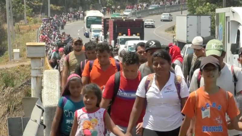Migrant camps overflow as Mexico cracks down
