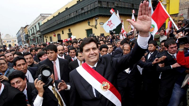 Peru's ex-leader dies after self-inflicted gunshot