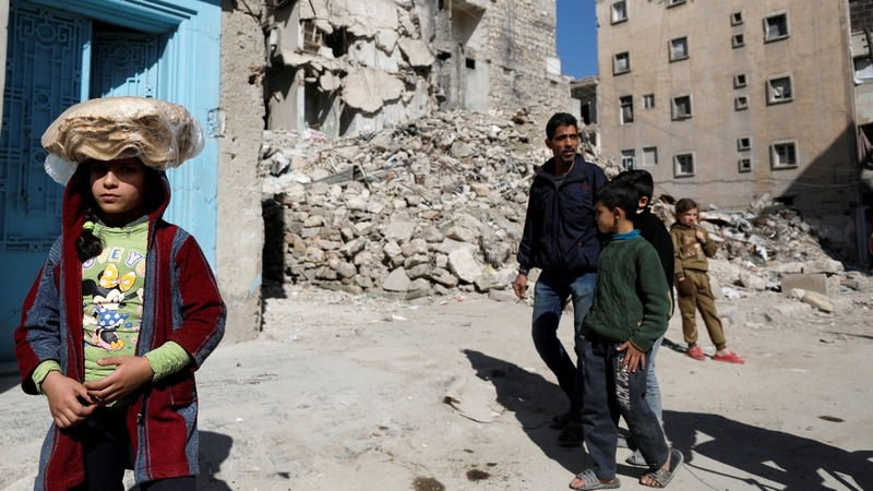In Aleppo, bodies still lie under rubble