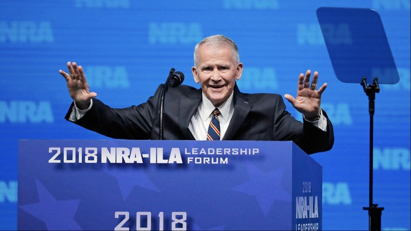 Oliver North steps down as NRA president