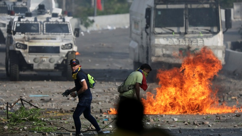 Thousands of protesters dial up pressure on Maduro