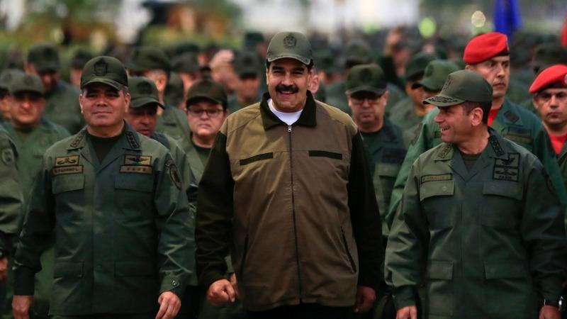 Maduro showcases military loyalty amid crisis