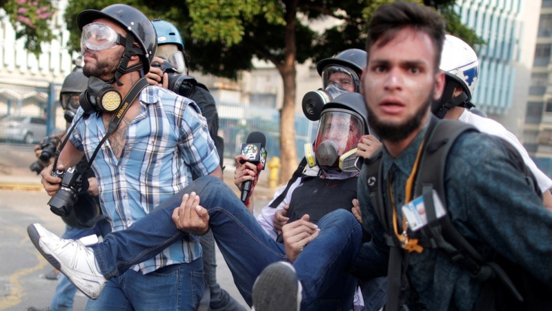 Tales of turmoil from Venezuelan protesters