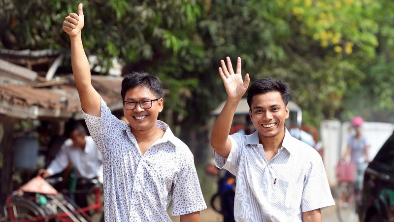 Two Reuters journalists freed after 511 days