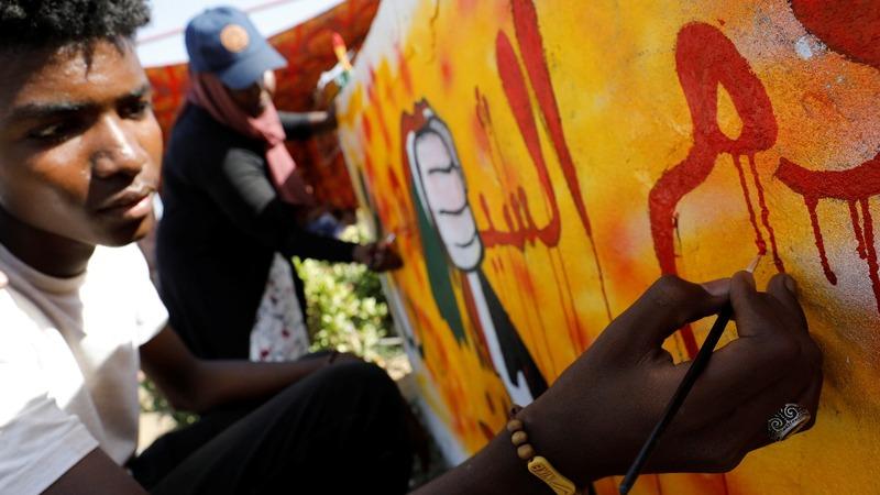 Sudan's struggle told through graffiti