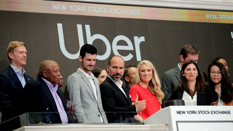 Uber hits the skids in rocky stock market debut