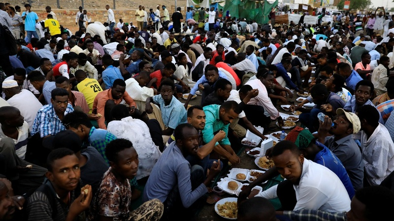 Sudanese protesters take a stand during Ramadan