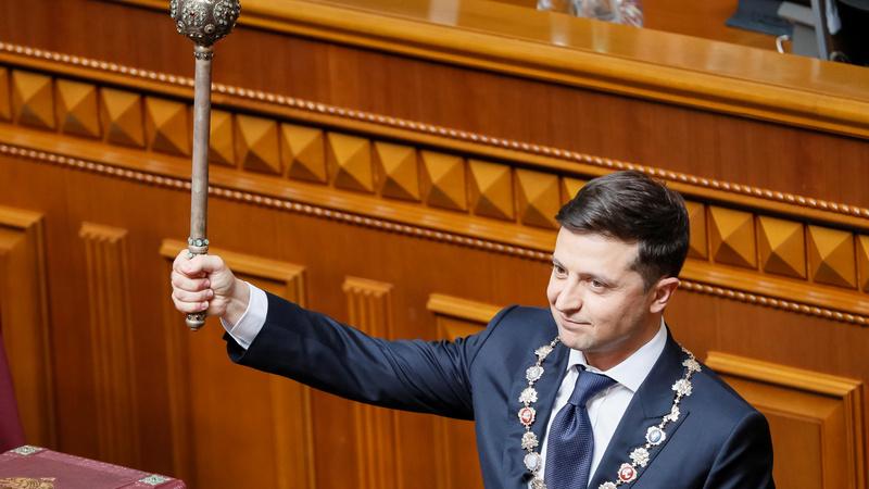 Zelenskiy's first act as Ukraine's new president