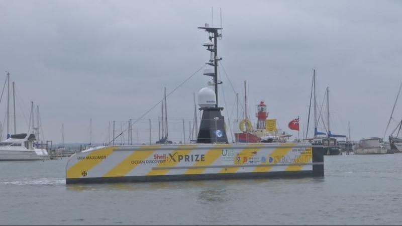 Crewless ship prepares for transatlantic crossing
