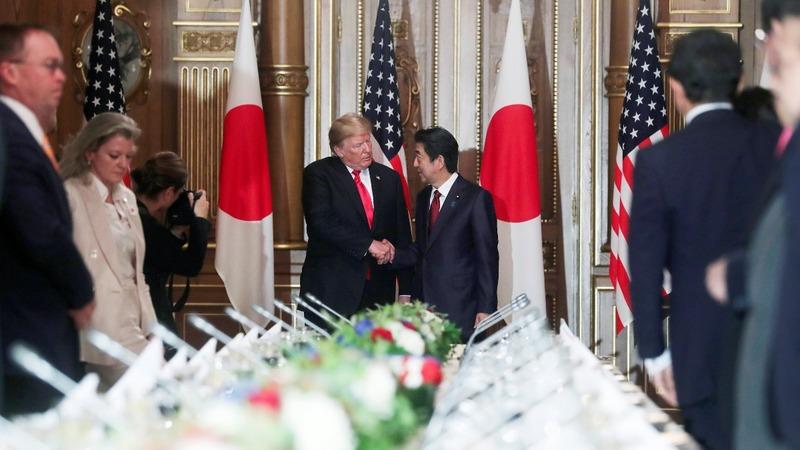 Trump talks space, trade and North Korea in Japan