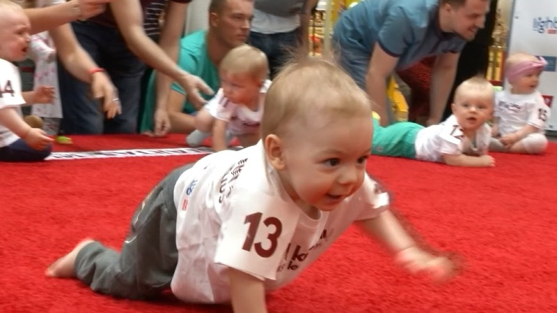 Quickest crawler crowned in Lithuanian baby race