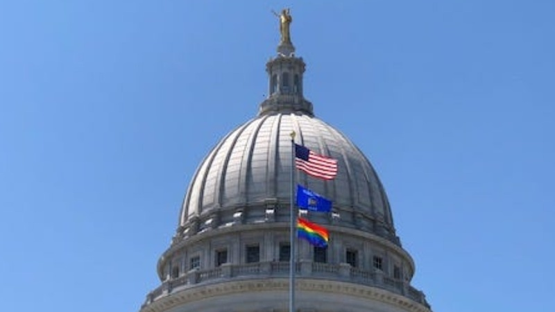 Pride flag outside Wisconsin capitol sparks Republican outcry