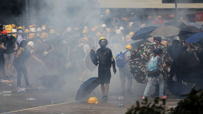 Hong Kong extradition bill protests turn to chaos