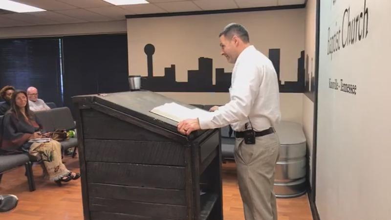 Pastor-detective preaches death for 'homos'