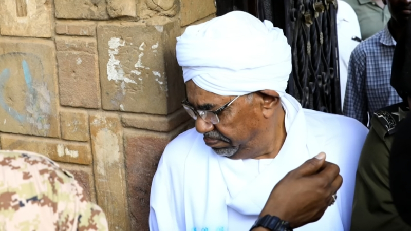 Sudan's ex president makes first public appearance