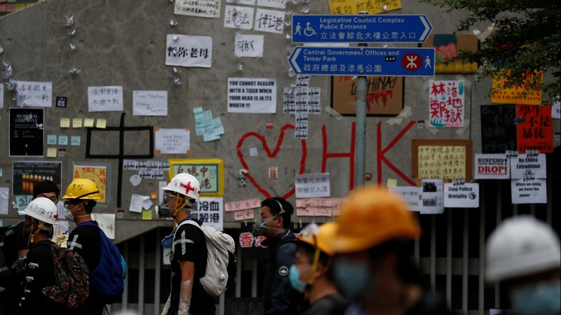 Hong Kong tense after massive protest