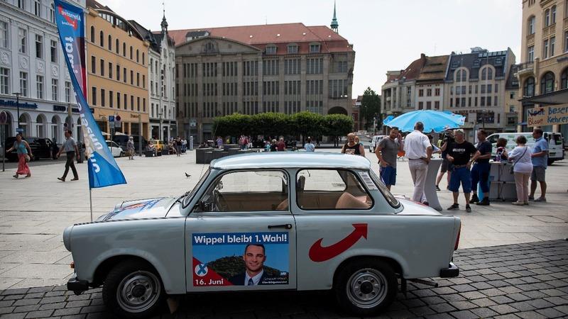 German town backs Merkel's CDU, rejects AfD