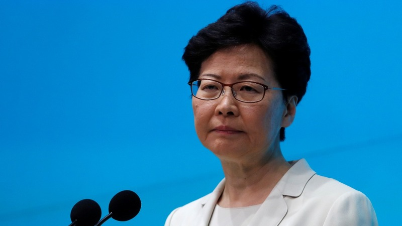 Hong Kong leader says sorry again, won't resign