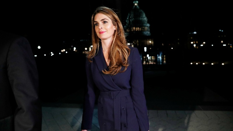 Ex-Trump aide Hicks testifies on Capitol Hill