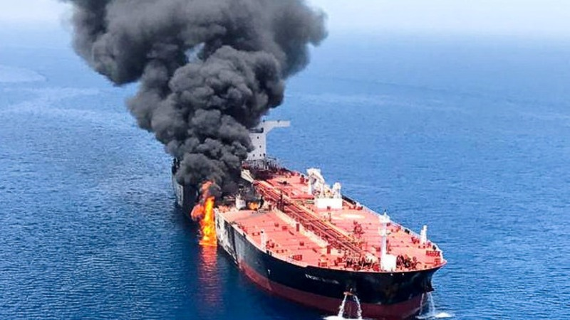 U.S. says tanker mine fragments point to Iran