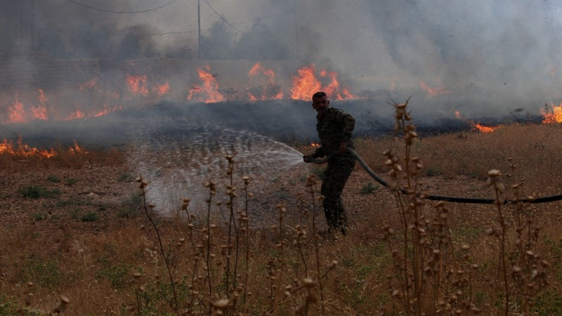 Iraq's bumper crop is burning