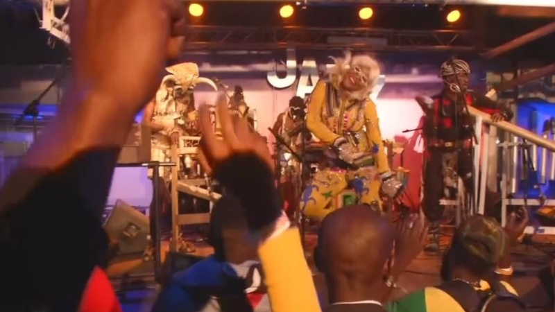 Watch a Congolese band make music from garbage