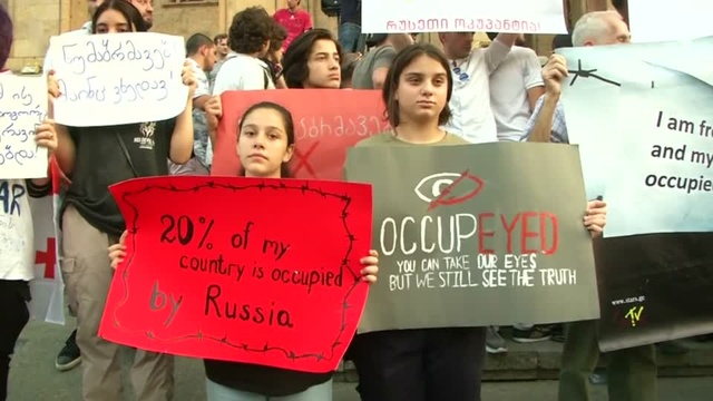 """Protesters in Georgia say """"no"""" to Russia"""