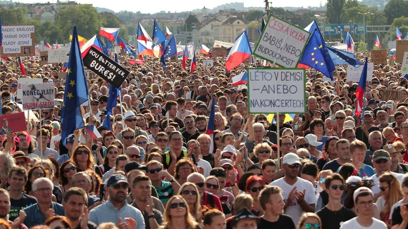 Czechs demand PM Babis quit in mass protest