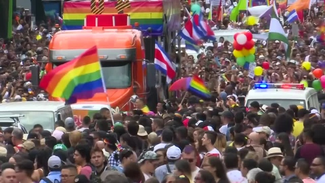 Costa Ricans celebrate first pride march since gay marriage ruling