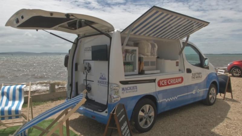 Electric ice cream van serves up zero emissions