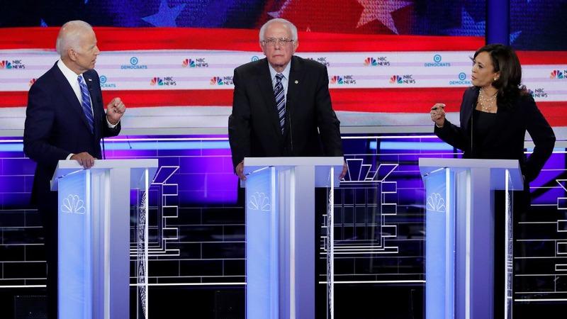 Harris chides Biden on race at Miami debate