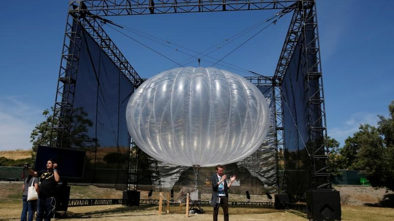 Google's internet balloon looking for its wings