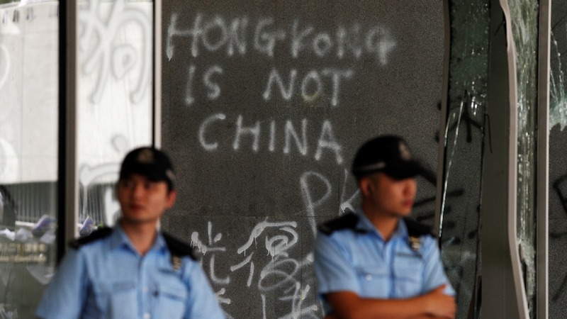 Violence marks new chapter in Hong Kong protests
