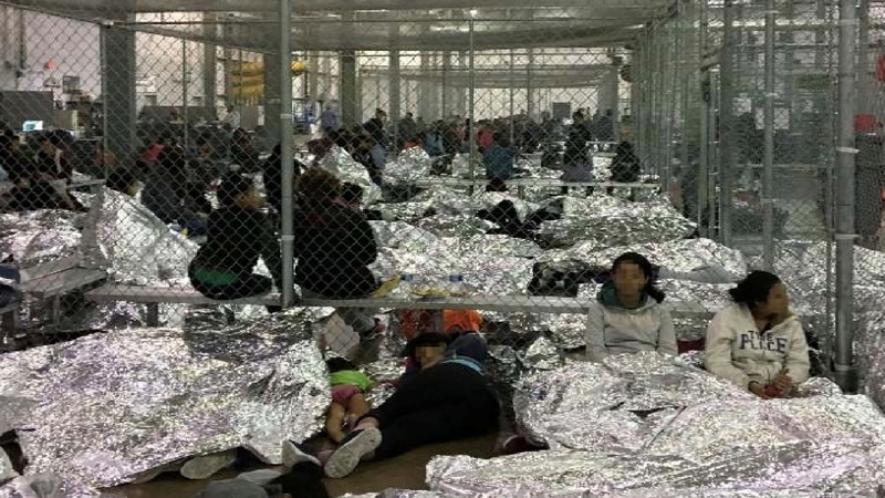DHS photos show migrants crammed into detention centers